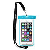 IPX8 Waterproof Case,Mpow Universal Durable Underwater Dry Bag Best Water Proof, Dust Dirt Proof, Snowproof Pouch Touch Responsive and Watertight Sealed System for Apple iPhone 6s, 6 Plus, Samsung Galaxy S6 Edge,etc-Blue