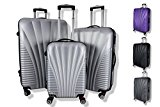 Rocklands Lightweight 4 Wheel ABS Hard Shell Luggage Set Suitcase Cabin Travel Bag (Set of 3 (20