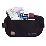 Money Belt [with RFID Protection] - Ideal for travel - Keep your valuables safe with this comfortable breathable travel money belt!