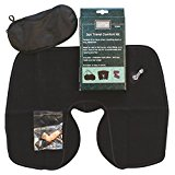 Ashley Travel Comfort Kit, 3 piece including neck cushion, ear plugs and eye cover