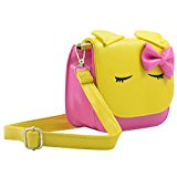 Pretty girl Faux Leather Shoulder Bag for Girls -Yellow