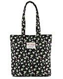 [HotStyle Fashion Printed] Floral Womens Shopper Tote Handbag, Green