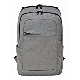 Slim Laptop Backpack, Slotra Business Lightweight Nylon Water Resistant Multipurpose Shoulder Notebook Backpack up to 15.6inch, Anti-Theft, Light Grey