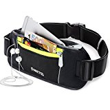 FREETOO Bumbag Running Belt Waistpack Fanny Pack Money Belt Runners Bag Black for Traveling Hiking Fit iPhone 6 plus Galaxy S5 S6 Note 4/5