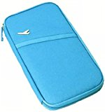 11 colours Durable Waterproof Nylon Travel Document Wallet (Blue)