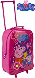 Kids Trolley Cabin Bag Suitcase with Wheels and Telescopic Handle - Ideal for short breaks, holidays, sleepovers and school trips (Peppa Pig)