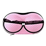 SODIAL(R)Protect Bra Underwear Lingerie Case Storage Travel Organizer Bag Portable Storing Case Bag Pink Dot