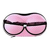 SODIAL(R)Protect Bra Underwear Lingerie Case Storage Travel Organizer Bag Portable Storing Case Bag Pink Dot