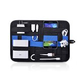 Electronics Organizer,Ugreen Gadget Organizer,Multifunctional Travel Gear Organiser,Elastic Storage Plate,Woven Cable Organizer Board,Tablet Pocket, Anti-Slip Design For Cosmetic/Digital Accessories (M)