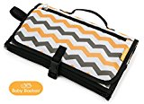 Baby Booboo Portable Nappy Changing Mat Travel With Pillow Pad, Waterproof, Signature Premium Chevron Design, Perfect Changing Station For Changing Nappies On The Go