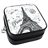 JOVIVI Korean Style Portable Travel Jewellery Box Case Organizer Earring/Ring/Necklace etc Cosmetic Storage Container (Black)