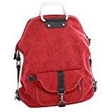 3 Way Use Canvas Backpack, WITERY Men Women Casual Vintage Exquisite K2 Canvas Tote Bag Handbag Shoulder Bag Top-Handle Bags School Bags Backpack Red