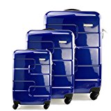 [BLACK FRIDAY DEAL] Set of 3 (20/24/28 inch) Vesgantti ® Light Weight Hardshell Travel Luggage Suitcase, Trolley Cases Bag, Carry-on and Checked Baggage, With 4 Twin-spinner Wheels - Blue