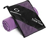 Microfibre Travel Towel - Sports Towel for the Beach, Gym, Camping, Swimming, Yoga & Pilates - Quick Dry, Lightweight and Compact - Lifetime Guarantee (Purple, XL 150cm X 80cm)