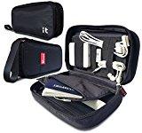 Cable Organizer for Travel - Travel Insert Handbag Organizer & Electronics Accessories Organizer (Hand Black)