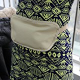 Travel Running Waist Belt Wallet Pouch Bum Bag Nude