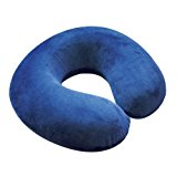 Motionperformance Essentials Blue Velour Comfort Memory Foam Neck Support Cushion (Traveling, TV, Reading)