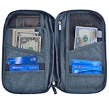Hopsooken Travel Wallet & Passport Holder Organizer Rfid Blocking ID Card Pouch (Gray)