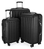HAUPTSTADTKOFFER - Spree - Set of 3 Hard-Side Luggages Black mat, TSA, (S, M & L), 256 Liter