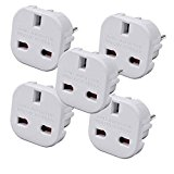 Sockit UK to EU Travel Plug Adaptor (Pack of 5)