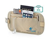 TravelGenixx Hidden Travel Money Belt Waist Pouch for Women (Nude)