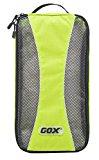 Shoe Box, GOX Premium 420D Nylon Portable Shoe Box Bag Storage / Luggage Packing Cubes / Travel Organizers with Hook (Green)