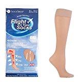 Ladies SockShop 40 Denier Flight and Travel Socks 4-7 uk, 37-40 eur Natural