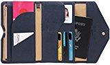 Zoppen Mulit-purpose Rfid Blocking Travel Passport Wallet (Ver.4) Trifold Document Organizer Holder, Navy Blue