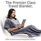 Travelrest 4-in1 Premier Class Travel Blanket with Pocket - Covers Shoulders - Soft and Luxurious (#1 BEST SELLER) - GREAT HOLIDAY GIFT! (38 x 60 inches, Grey)