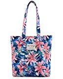 [HotStyle Fashion Printed] Floral Design Womens Shopper Tote Shoulder Bag, Pink