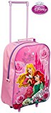 Kids Trolley Cabin Bag Suitcase with Wheels and telescopic Handle - Disney Princess in Pink - Ideal for short breaks, holidays, sleepovers and school trips