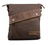 Zenness New Fashion Canvas Shoulder Messenger Bag Casual Satchel Bag Crossbody Travel Bag (Coffee)