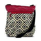 Travelon Printed Crossbody Bag with Adjustable Shoulder Strap - Geometric Pattern