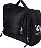 Bago Travel Toiletry Bags for man woman & kids - 100% SATISFACTION GUARANTEED. Hanging Toiletries Bag or for Home. Multi Pockets & High Quality Zippers. Perfect for Cosmetics Shaving & Personal Care (Black)