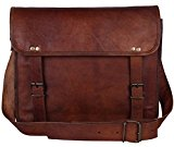 Brown Leather Messenger Bag for Men Women Vintage College Gifts Ideas
