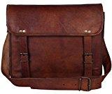 Brown Leather Messenger Bag for Men Women Vintage College Gifts Ideas