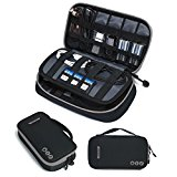 BAGSMART Travel Electronic Accessories Thicken Cable Organizer Bag Portable Case - 4 Layer Black Grey