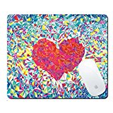 Pershoo Mouse Mat Gaming Mouse Pad,Colorful Love Pattern Creative Anti-slip Mouse Pad,Soft Rubber Mouse Pad Mouse Mat Mouse Mice for Travel Office