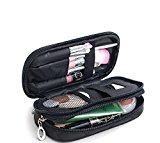 Small Cosmetic Bags Makeup Bag Women Travel Toiletry Bag (Black)