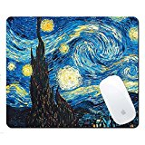 Van Gogh Paintings Mouse Mat,Pershoo Gaming Mouse Pad,Colorful Pattern Creative Anti-slip Mouse Pad,Soft Rubber Mouse Pad Mouse Mat Mouse Mice for Travel Office