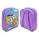 Paw Patrol Skye & Everest Girls Junior Backpack Childrens Rucksack School Bags (Purple)