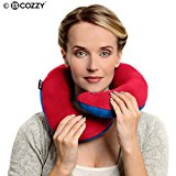 BCOZZY Chin Supporting Travel Pillow - Supports the Head, Neck and Chin in Maximum Comfort in Any Sitting Position, 2015 Travel Goods Show's Best Travel Accessory Nominee and Available in Adult or Child Sizes. A Patented Product. (ADULT SIZE, RED)