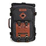 Koolertron Vintage Canvas Laptop Backpack Travel Rucksack Handbag Camping Backpack Shoulder Messenger Bag Satchel School Bags Crossbody Daypack (14