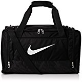 Nike Men's Brasilia 6 Small Duffel Bag - Black/White, One Size