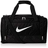 Nike Men's Brasilia 6 Small Duffel Bag - Black/White, One Size
