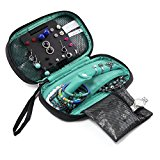 BAGSMART Portable Travel Hanging Jewelry Storage Case Organizer Bag Blue