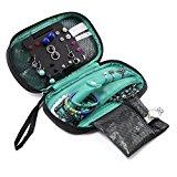 BAGSMART Portable Travel Hanging Jewelry Storage Case Organizer Bag Blue