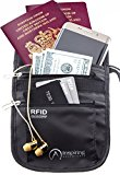 Travel Neck Wallet, Water Resistant Passport Holder Pouch with RFID Blocking