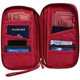Hopsooken Travel Wallet & Passport Holder Organizer Rfid Blocking ID Card Pouch (Rose)