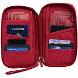 Hopsooken Travel Wallet & Passport Holder Organizer Rfid Blocking ID Card Pouch (Rose)